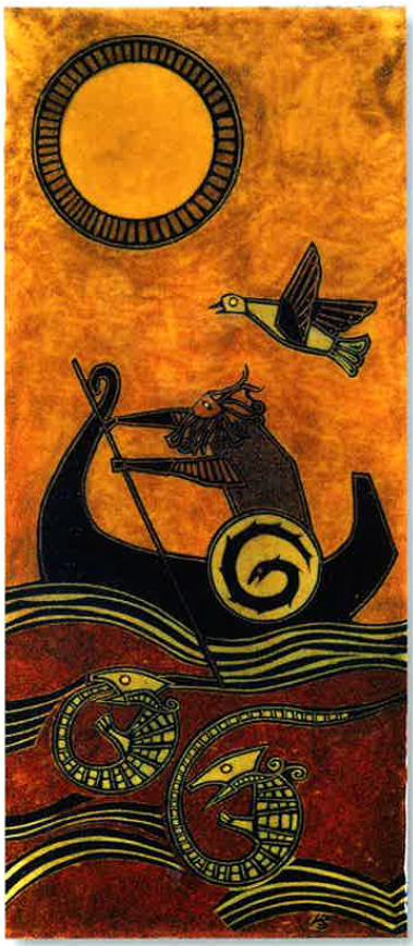 Le retour de Baldr, 1978. Emaux, noir vitrifiable. Jean-Claude Bessette