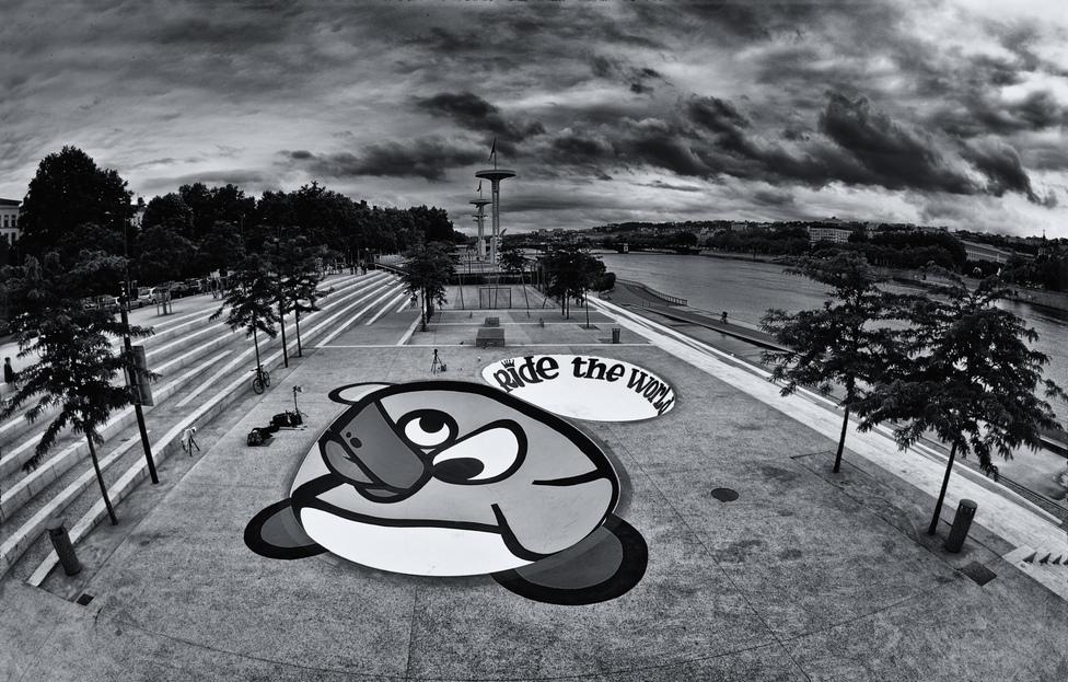 Graff de KNAR sur le skatepark des berges du Rhône à Lyon. Photo : IRIS ET CHIMERE