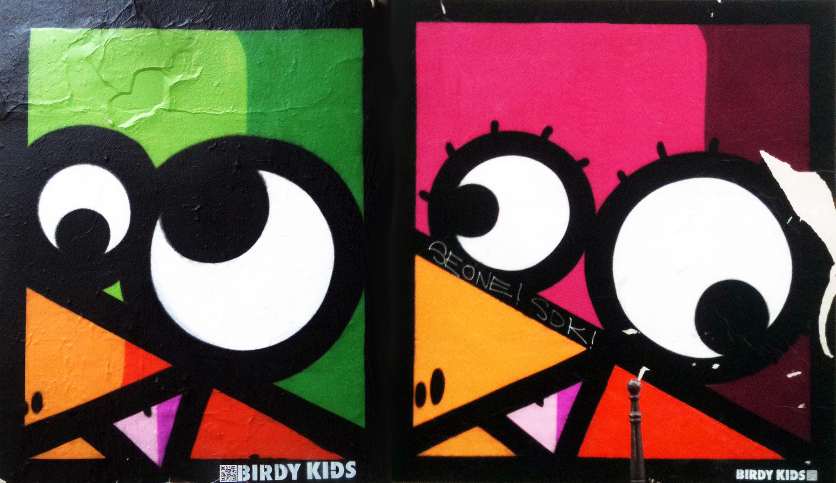 Graffitis de KNAR photographiés à Paris, dans le quartier du Marais en mars 2013.