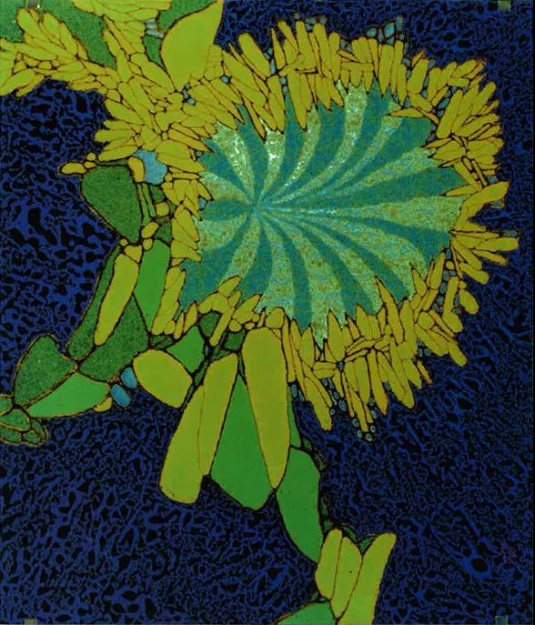 Soleil de pierre,1976, Emaux, Noir vitrifiable, Jean-Claude Bessette