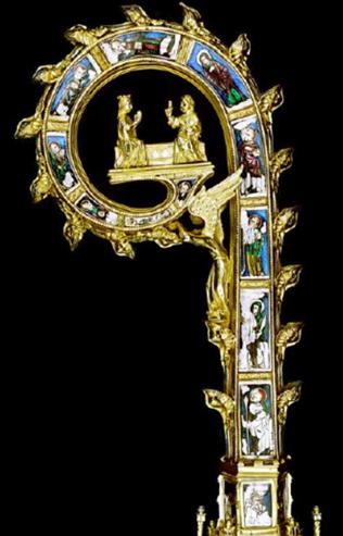 Crosse épiscopale d'Egmond, musée du diocèse, Paris, 1350