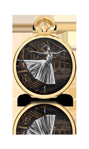 Montre de poche Patek Phlippe en or et ballerine au blanc de Limoges, pièce unique de 2014