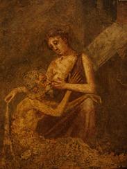 La charité romaine, Artiste inconnu, Fresque provenant de Pompéi, Milieu 1er siècle av. J.-C., Musée Arquéologique National de Naples, Italie