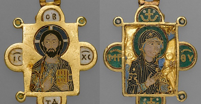 L'art byzantin : Un encolpion cloisonné