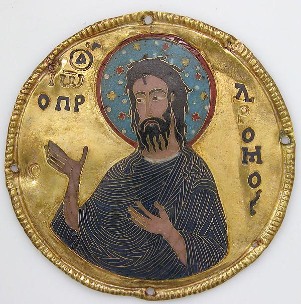 Médaillon de Saint Jean le Baptiste, MET, New-York, 1100, face avant