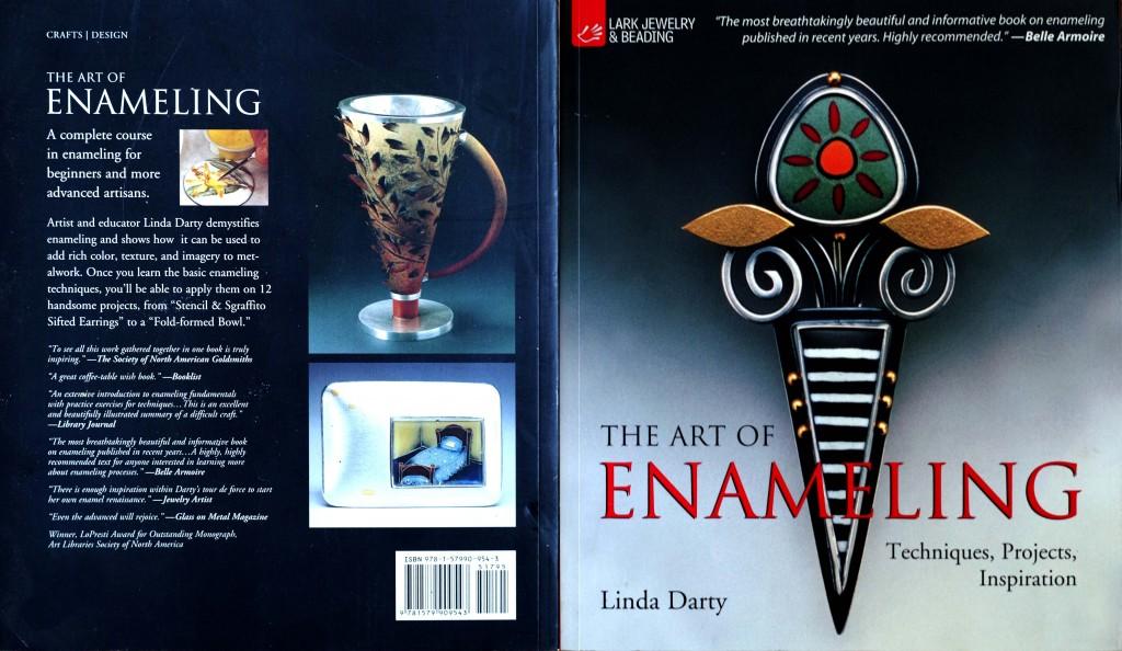 Couverture et 4ieme de couverture du livre de Linda Darty : The art of enameling