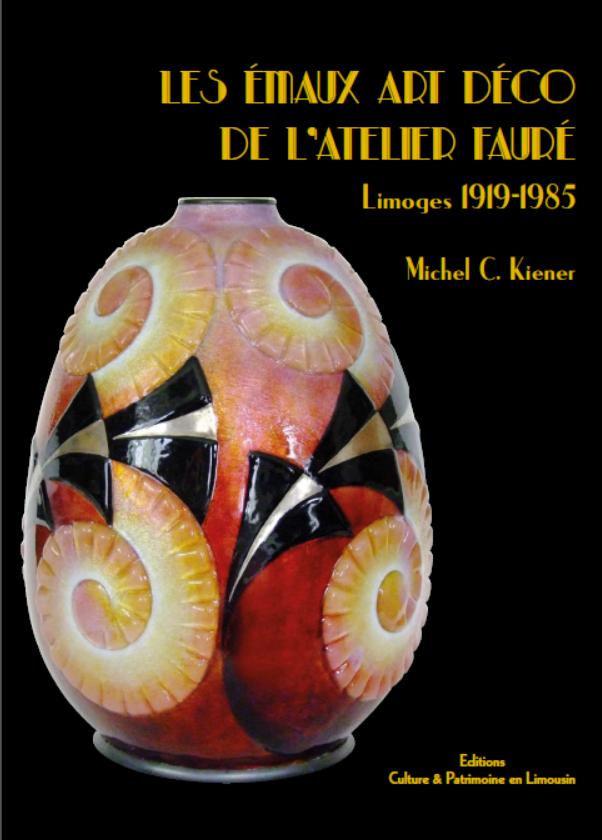 """Couverture du livre """"les émaux art déco de l'atelier Fauré"""""""