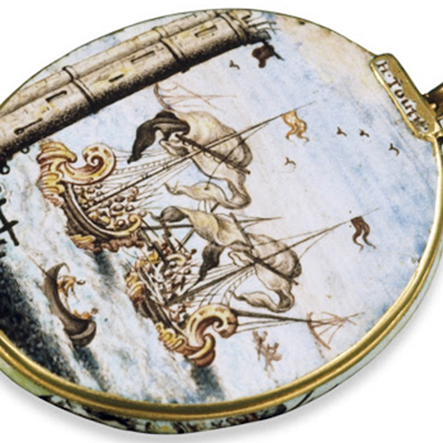 Le Baroque : Médaillon en émail peint