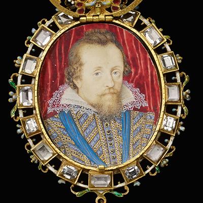 Le Baroque : Médaillon en émail peint de Nicolas Hilliard