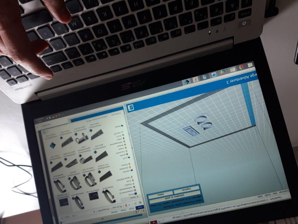 Logiciel Impression 3D pour la bague
