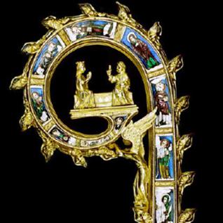 Période Gothique : Crosse épiscopale d'Egmond