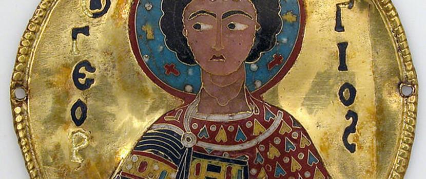 L'art byzantin : Médaillon de Saint Georges